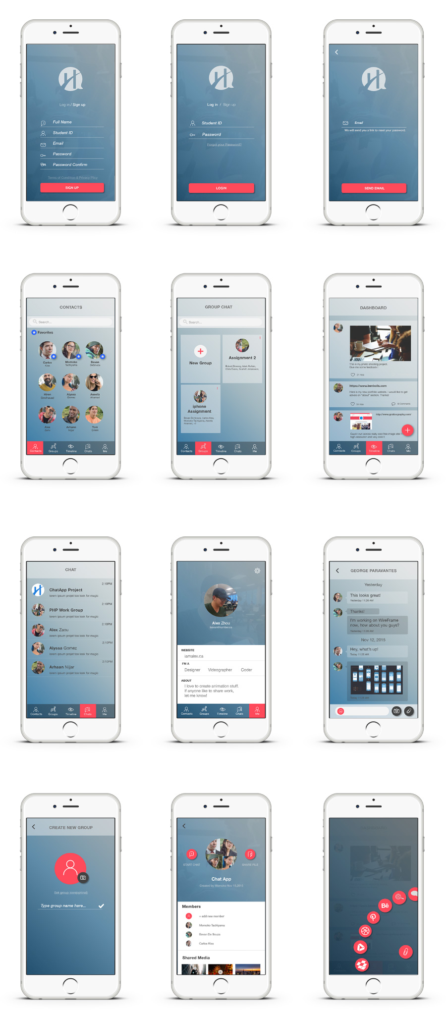 Complete screens on iphone