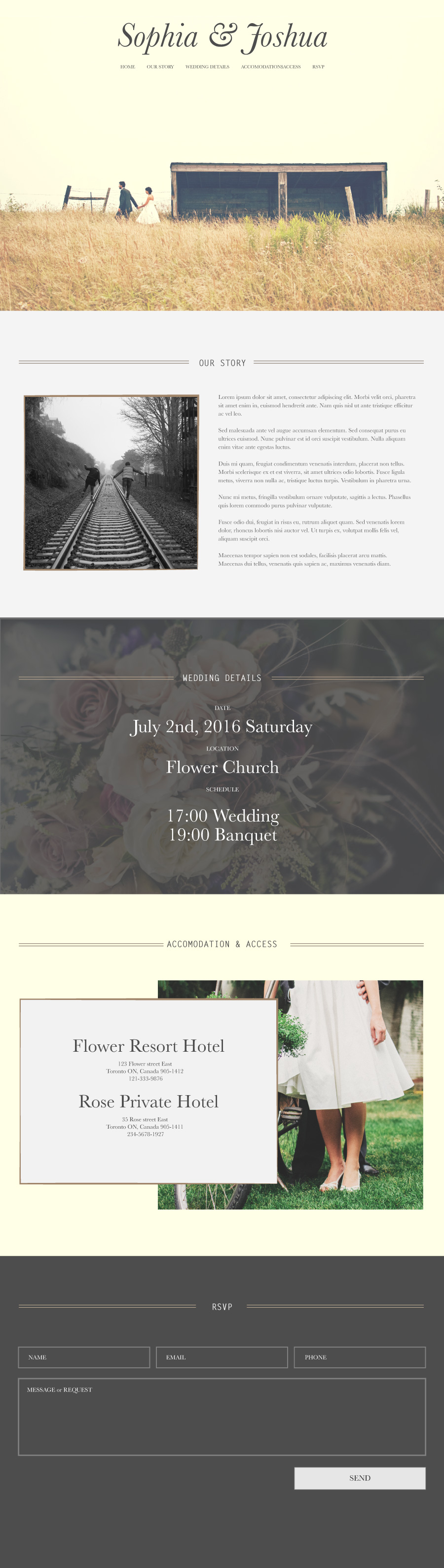 Wedding Invitation Website prototype